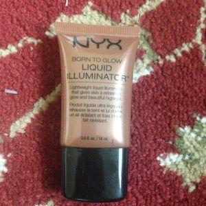 NYX liquid highlighter in Sun goddess